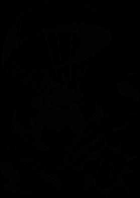 Принт Женская футболка с V-образным вырезом Десантник - FatLine