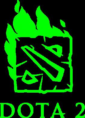 Принт Наклейка Dota 2 Fire - FatLine