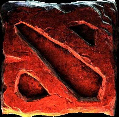 ����� ������� ��������  � V-�������� ������� Dota 2 3d Logo - FatLine