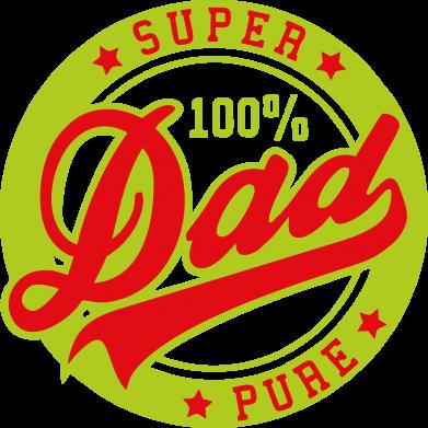 Принт Мужская майка Super Dad Pure 100% - FatLine