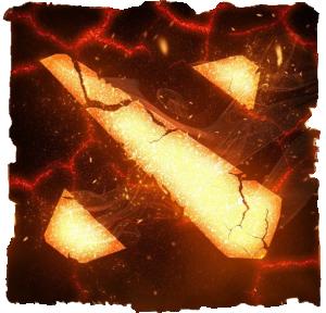 Принт Женская футболка Dota 2 Fire Logo - FatLine
