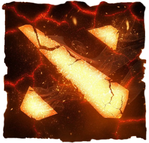 Принт Детская футболка Dota 2 Fire Logo - FatLine