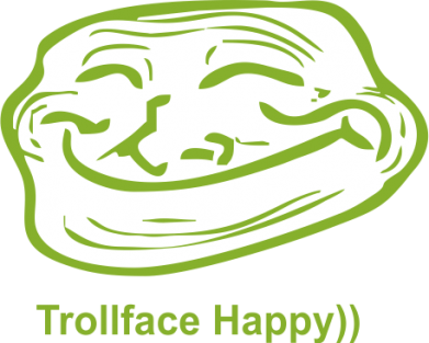 Принт Кружка 320ml Trollface happy - FatLine