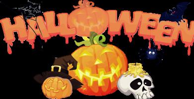 ����� ������� �������� � V-�������� ������� Halloween Logo - FatLine