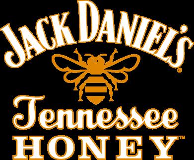 Принт Мужская футболка  с V-образным вырезом Jack Daniel's Tennessee Honey - FatLine