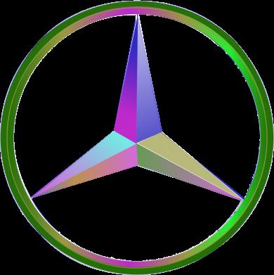 Принт Реглан Mercedes Logo Art - FatLine