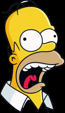 Принт Мужская майка Crazy Homer! - FatLine