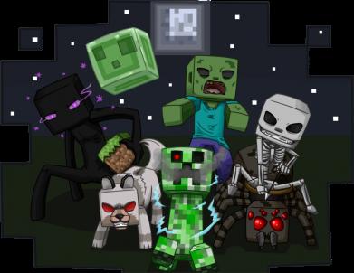Принт Мужская майка Minecraft Party - FatLine