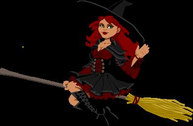 Принт Женская майка Ведьма на метле - FatLine