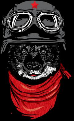 Принт Женская футболка поло Панда в каске - FatLine