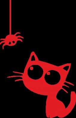Принт Фартук Котик и паук - FatLine