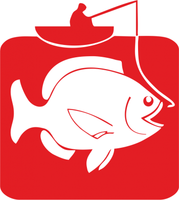 Принт Подушка Риба на гачку - FatLine