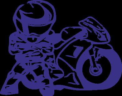 Принт Подушка Мотоциклист - FatLine