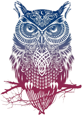 Принт Футболка Поло Owl Art - FatLine