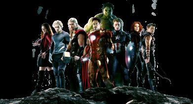 Принт Женская майка Avengers on the rock - FatLine