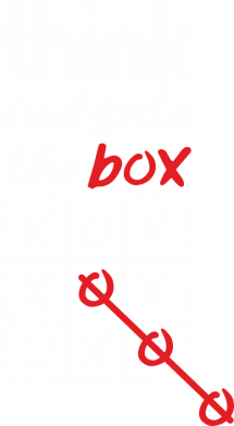 Принт Футболка Think outside the box - FatLine