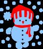 Снеговик в шапке
