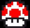 Гриб Марио в пикселях