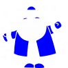 Прикольный дед мороз