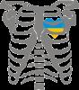 Скелет з сердцем Україна