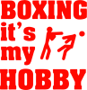 Boxing is my hobby