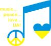 Music, peace, love UA