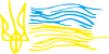 Детский рисунок флаг Украины