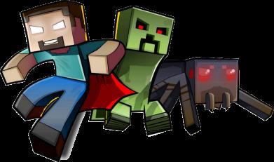 Принт Мужская толстовка Minecraft Company - FatLine