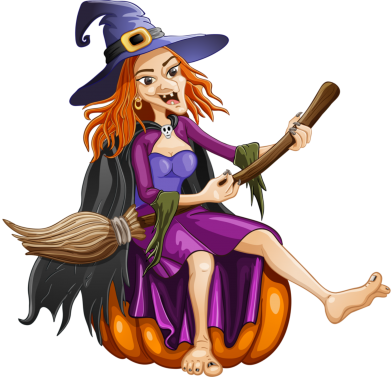 Принт Женская футболка Ведьма верхом на метле - FatLine