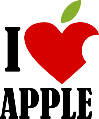 Принт Футболка Поло I love APPLE - FatLine