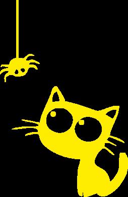 Принт Майка чоловіча Котик і павук - FatLine