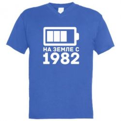 Мужская футболка  с V-образным вырезом 1982 - FatLine