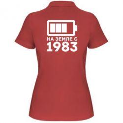 Женская футболка поло 1983 - FatLine