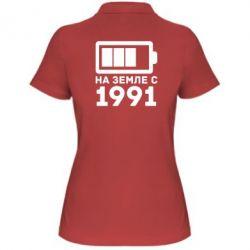 Женская футболка поло 1991 - FatLine