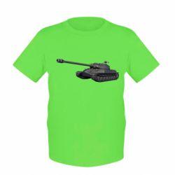 Детская футболка 3Д Танк - FatLine
