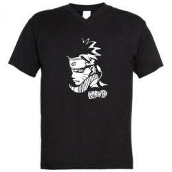 Мужская футболка  с V-образным вырезом 4256 - FatLine