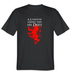 Мужская футболка A Lannister always pays his debts - FatLine
