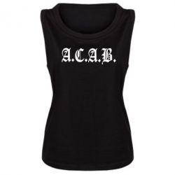 Женская майка A.C.A.B. - FatLine