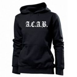 Женская толстовка A.C.A.B. - FatLine