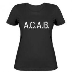 Женская футболка A.C.A.B. - FatLine