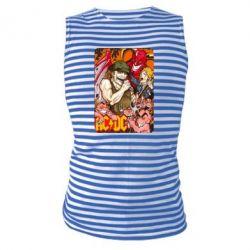 Майка-тельняшка AC DC Art Banner - FatLine