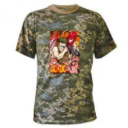 Камуфляжная футболка AC DC Art Banner - FatLine