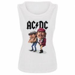 Женская майка AC/DC Art