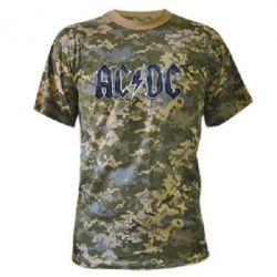 Камуфляжная футболка AC/DC Logo - FatLine