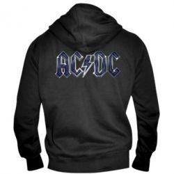 Мужская толстовка на молнии AC/DC Logo - FatLine