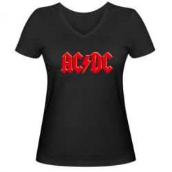 ������� �������� � V-�������� ������� AC/DC Red Logo - FatLine