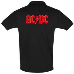 Футболка Поло AC/DC Red Logo - FatLine