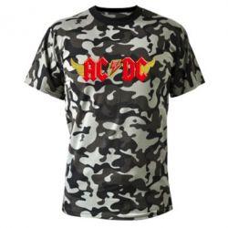 Камуфляжная футболка AC/DC с крыльями - FatLine