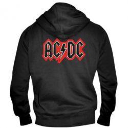 Мужская толстовка на молнии AC/DC Vintage - FatLine