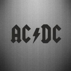 Наклейка AC DC - FatLine